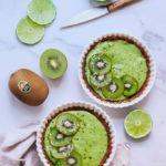tarta de lima y kiwi vegana