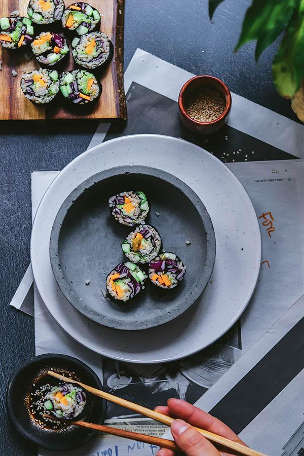 cómo hacer sushi vegano