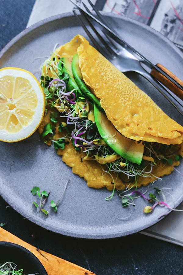 Tortilla francesa vegana
