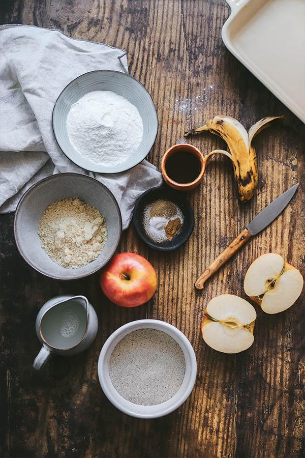 como hacer una tarta de manzana sin gluten y vegana