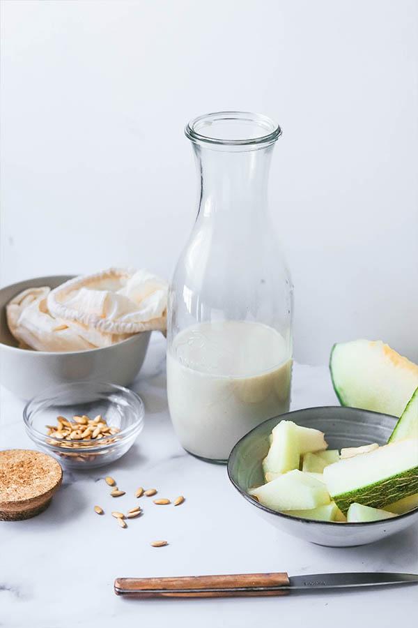 Cómo hacer leche de melón
