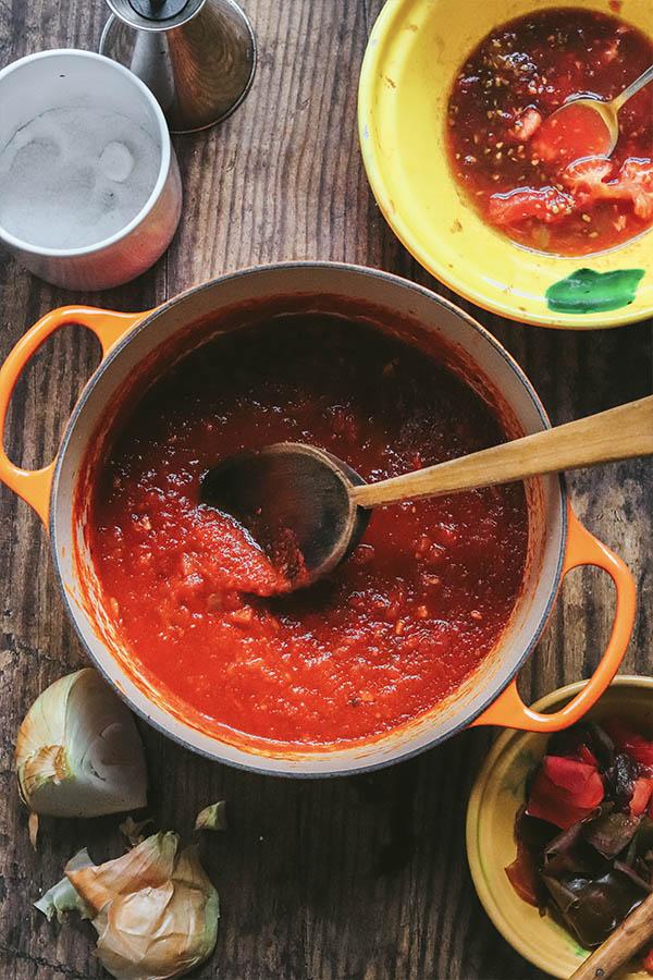 salsa de tomate casera fácil