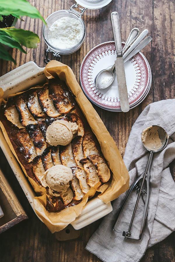 tarta de manzana casera y saludable