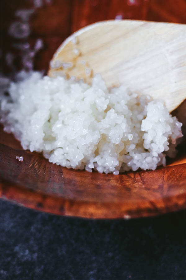 aderezar arroz sushi