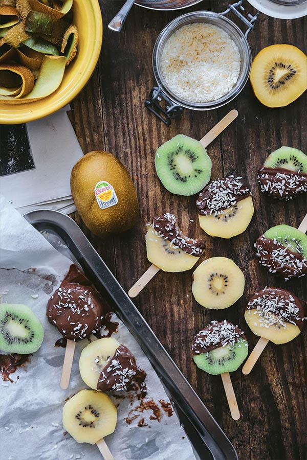 Snack de kiwi bajo en calorias