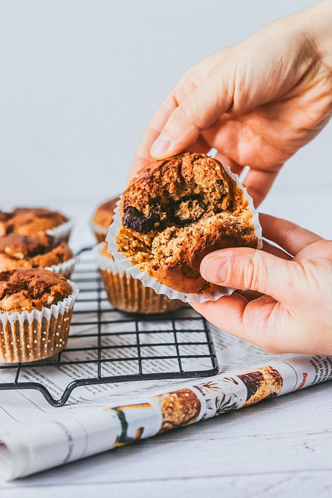 muffin vegano y sin gluten