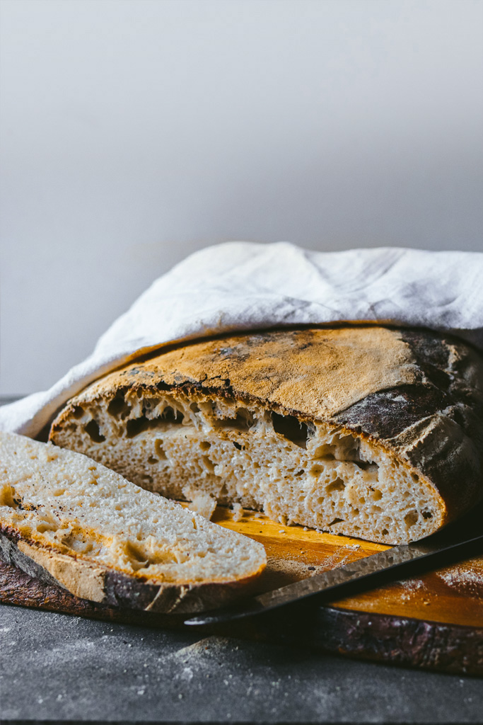 Pan sin gluten con masa madre