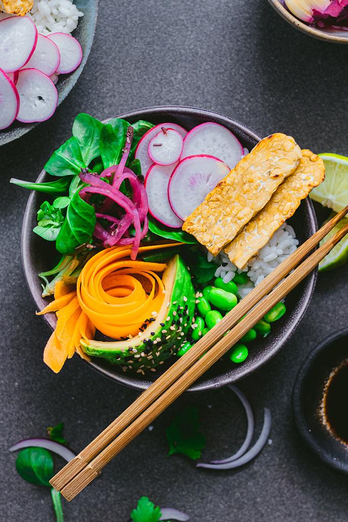poke bowl vegano receta