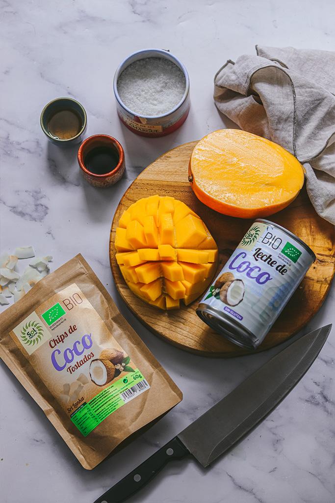 tarta de mango vegana