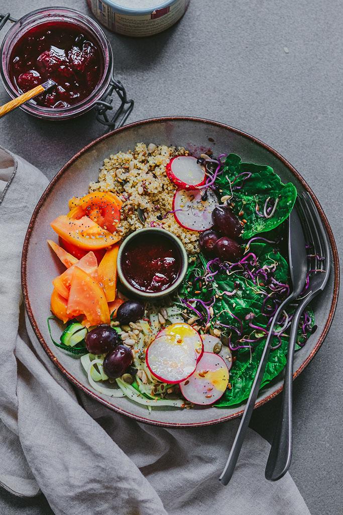 ensaladas de verano veganas