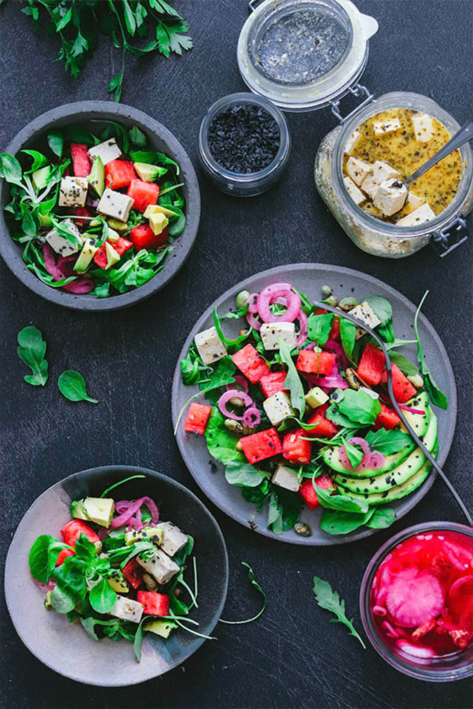 ensalada griega vegana