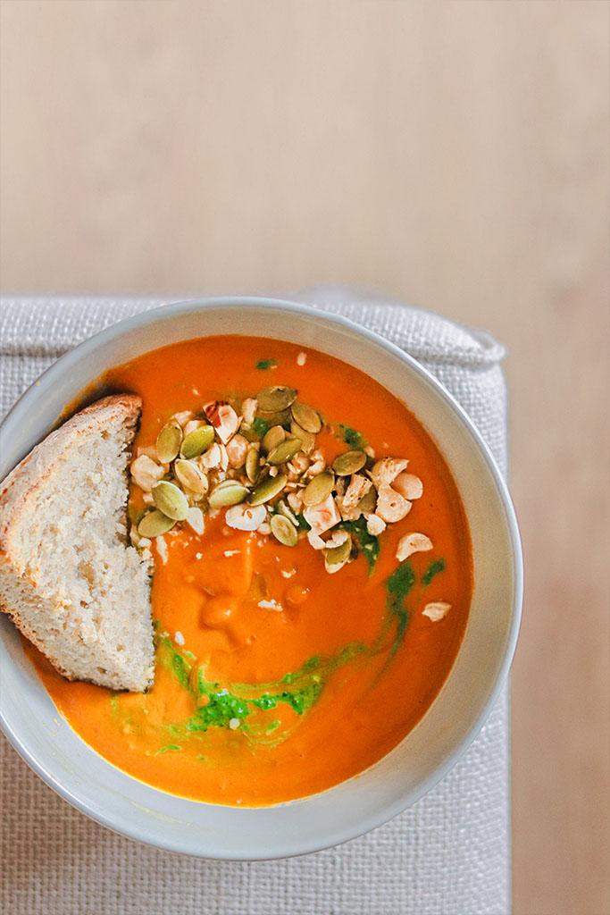 crema de zanahoria saludable