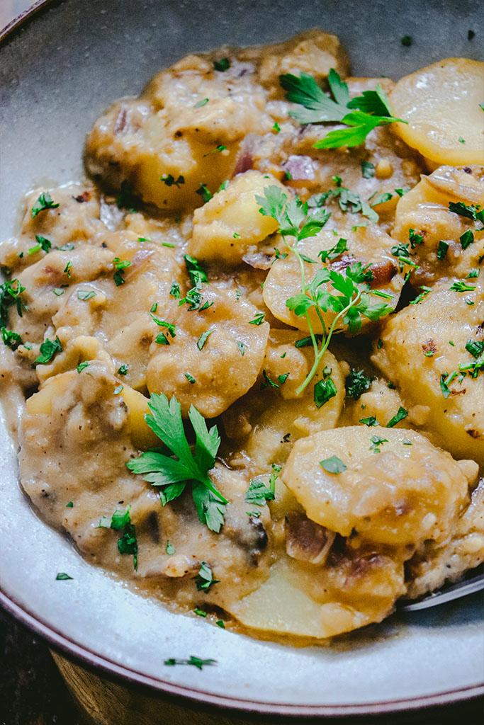 cómo hacer patatas a la importancia veganas