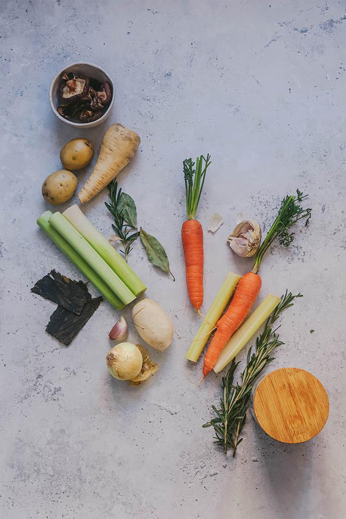 cómo hacer caldo de verduras