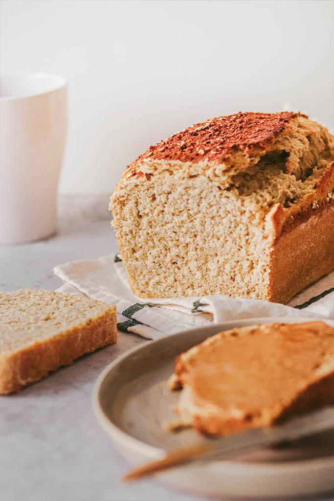 receta pan de molde vegano