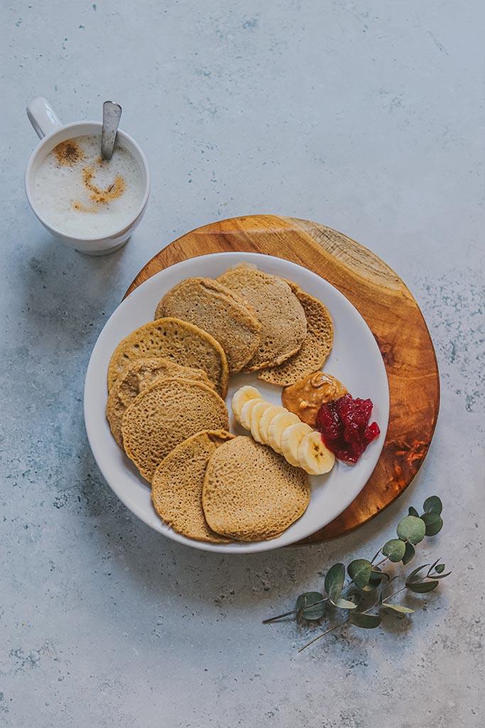 Tortitas de avena y platano