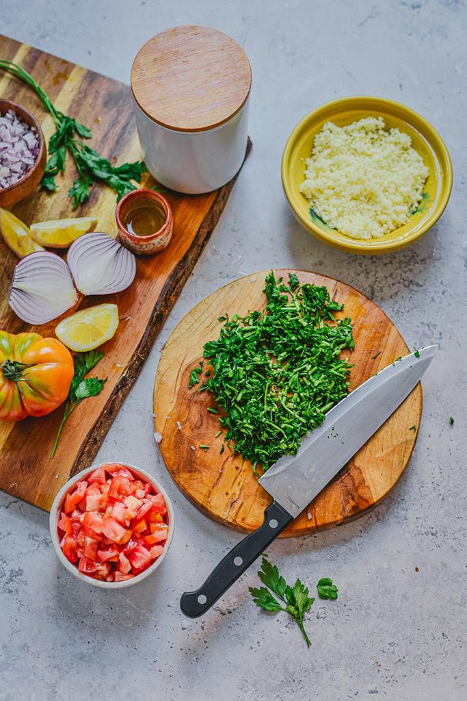tabule receta con quinoa