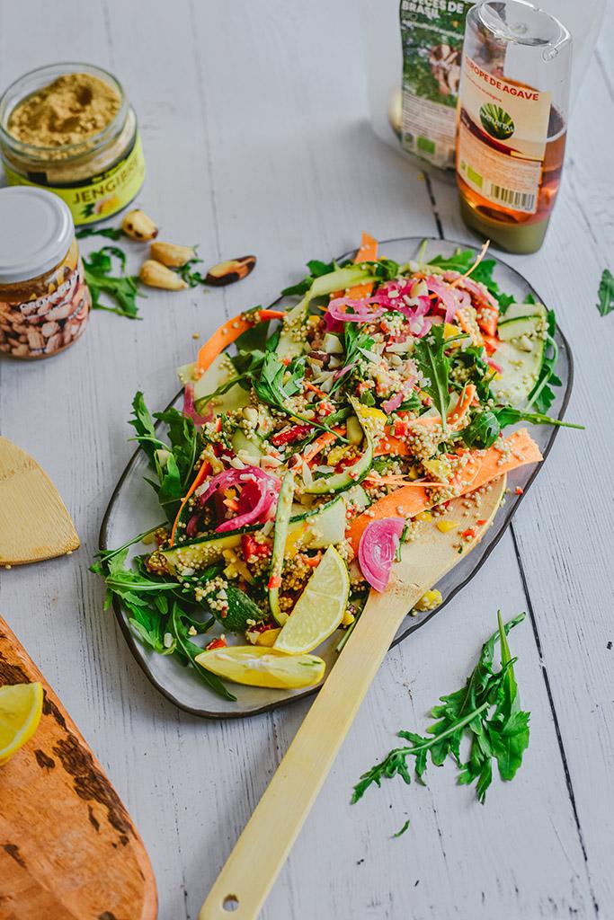 pad thai quinoa receta