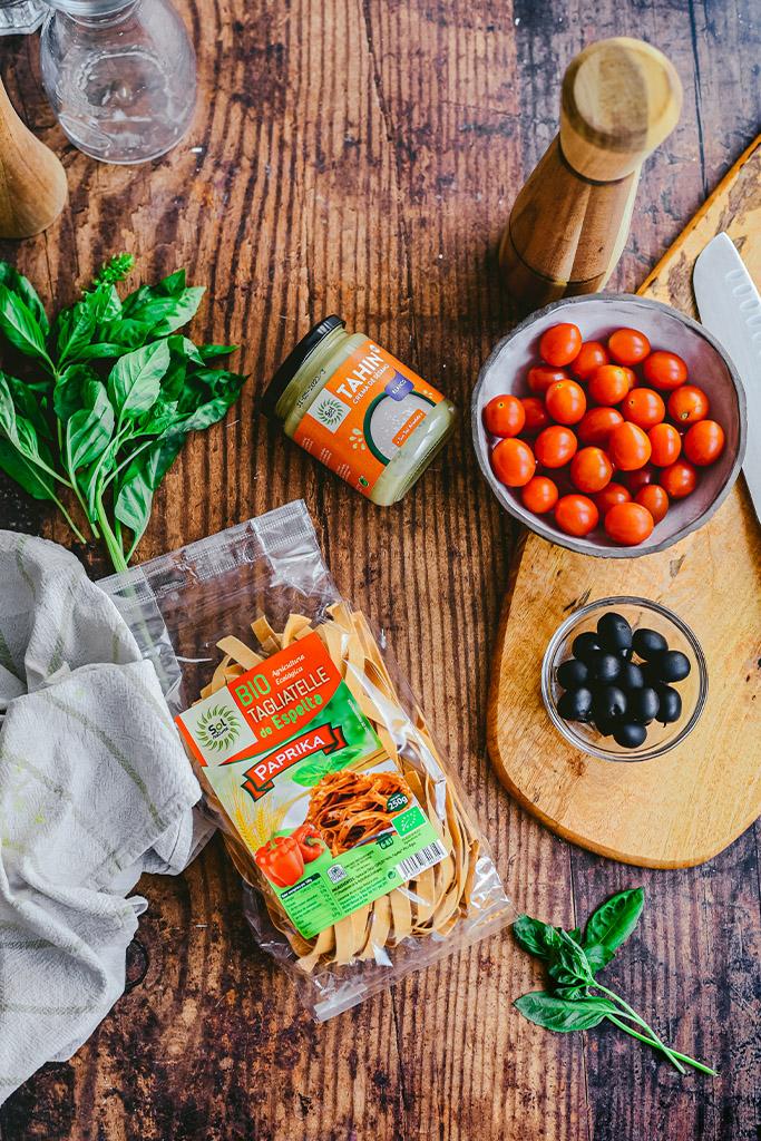 pasta con salsa casera