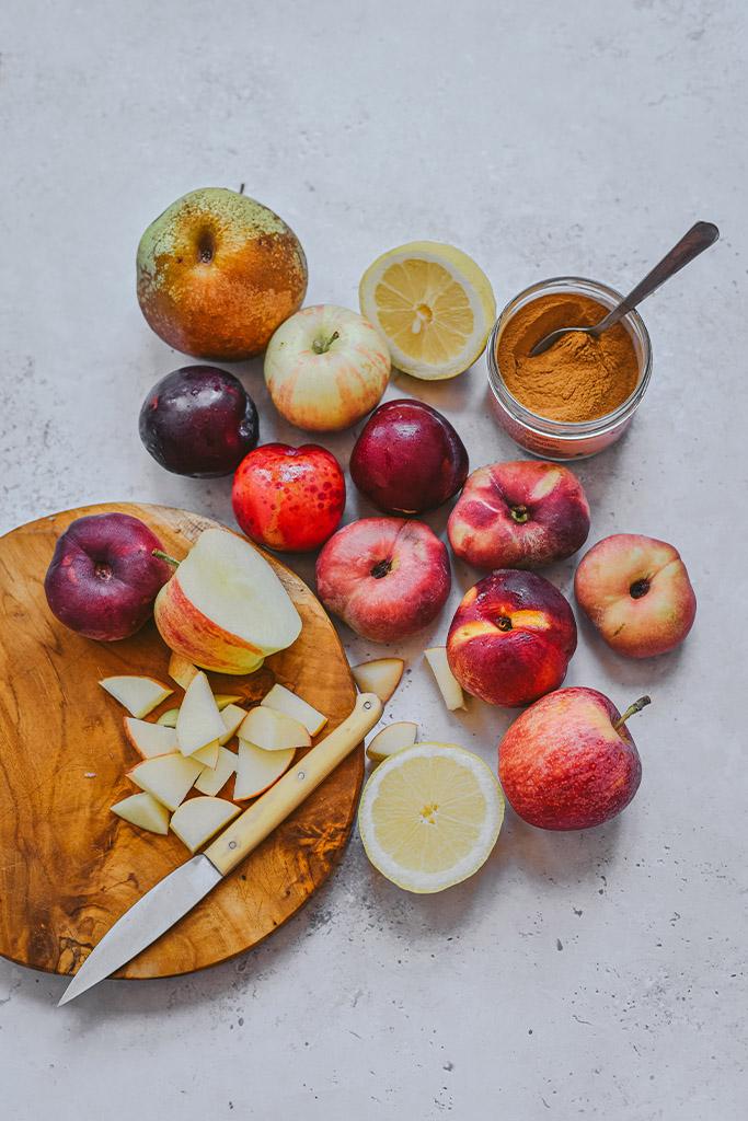 fruta caramelizada