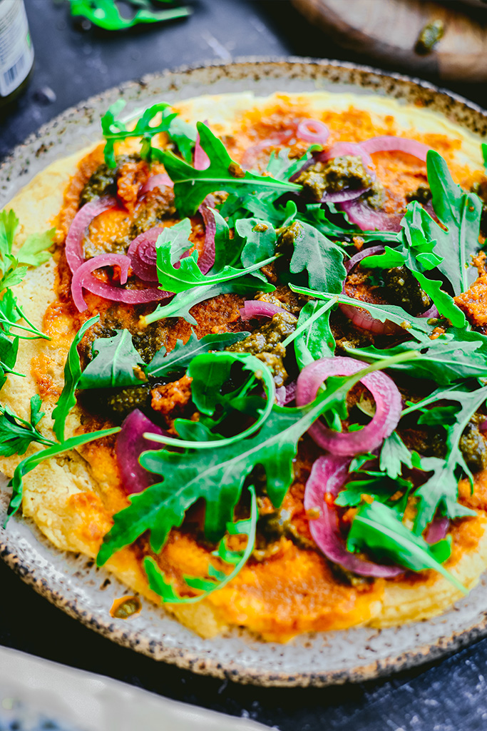 pizza socca receta