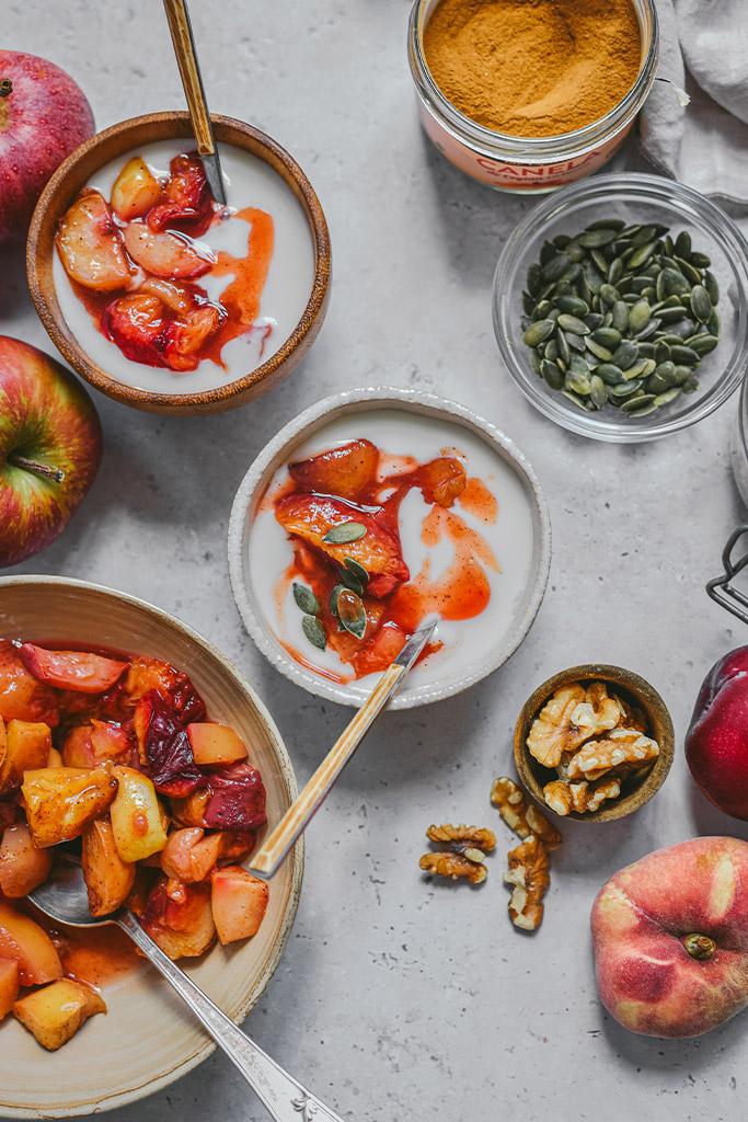 fruta al horno